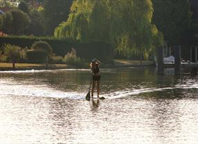 Paddleboarder on the river