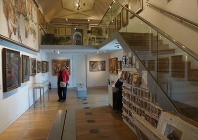 Interior of the Stanley Spencer Gallery, Cookham
